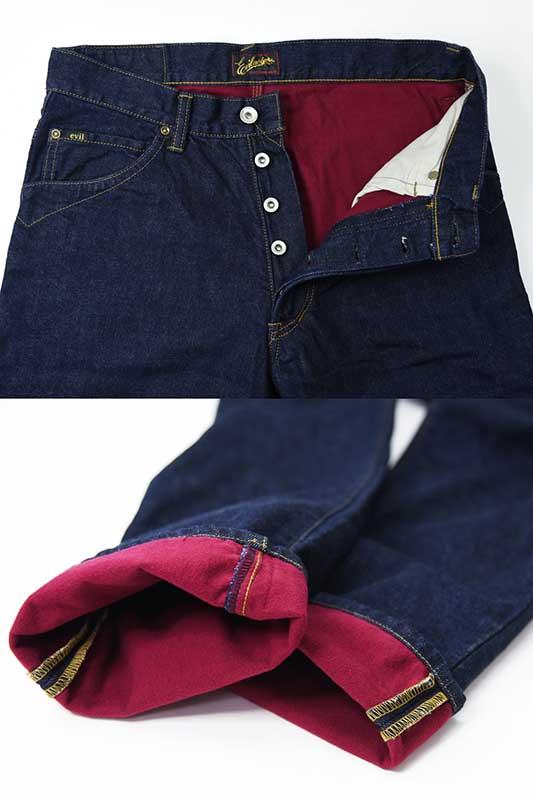 EVILACT EA-J07 Flannel Lining Denim Pants