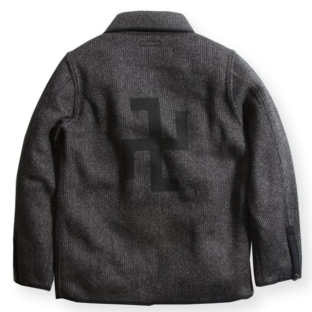 16FW SWASTIKA BEACH CLOTH JKT BLK