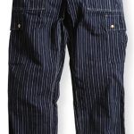 17SS 10PKT WORK PANTS INDIGO STRIPE