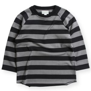 17SS CLASSIC RIB BORDER UNDER SWEATER BLK/GRY