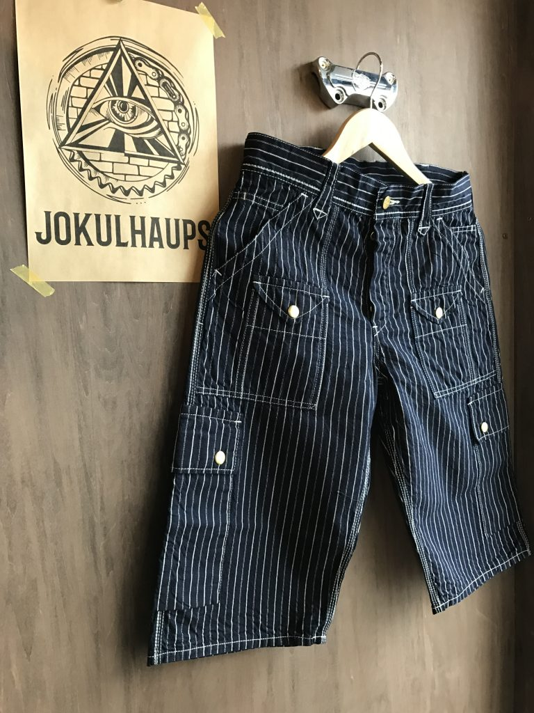 10 POKET WORK SHIRT'S PANTS INDIGO STRIPE