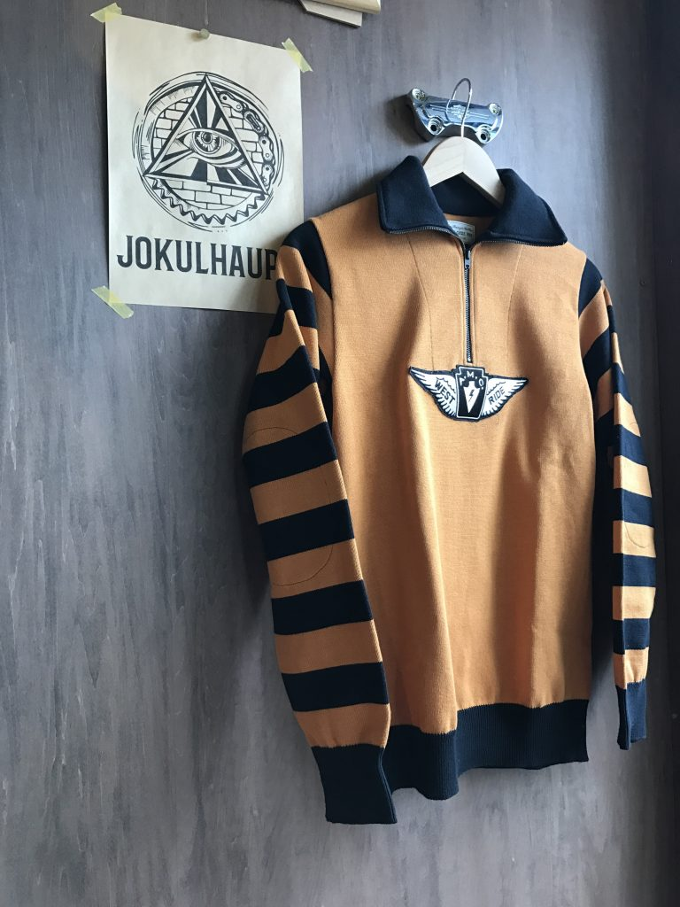 17SS CLASSIC H.ZIP BORDER JERSEY BLK/GOLD