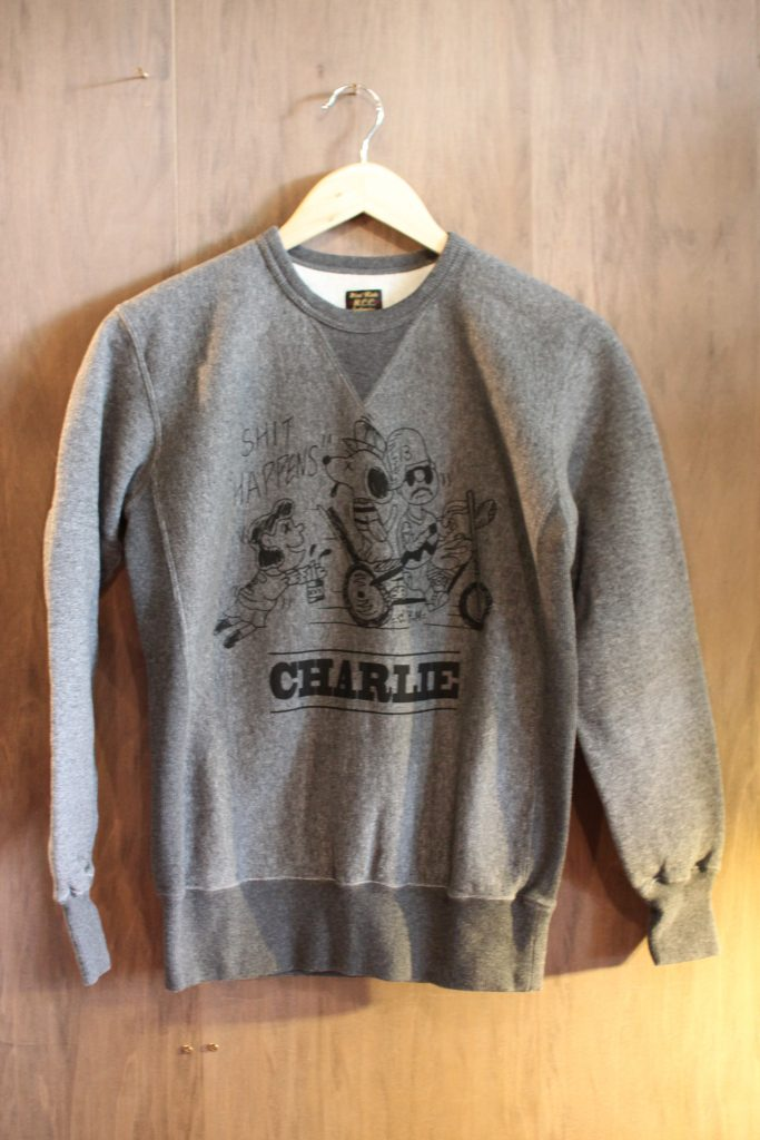 CLOUD FRONT-V CREW NECK H.DK.GRY