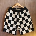 NGT KNIT SHORTS CHECKER WHT