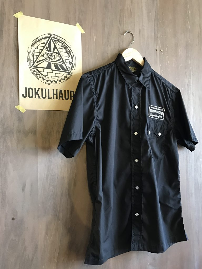 17SS SNAP WORK S/S SHIRTS BLACK